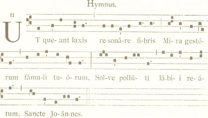 Гимн, положивший начало названиям нот